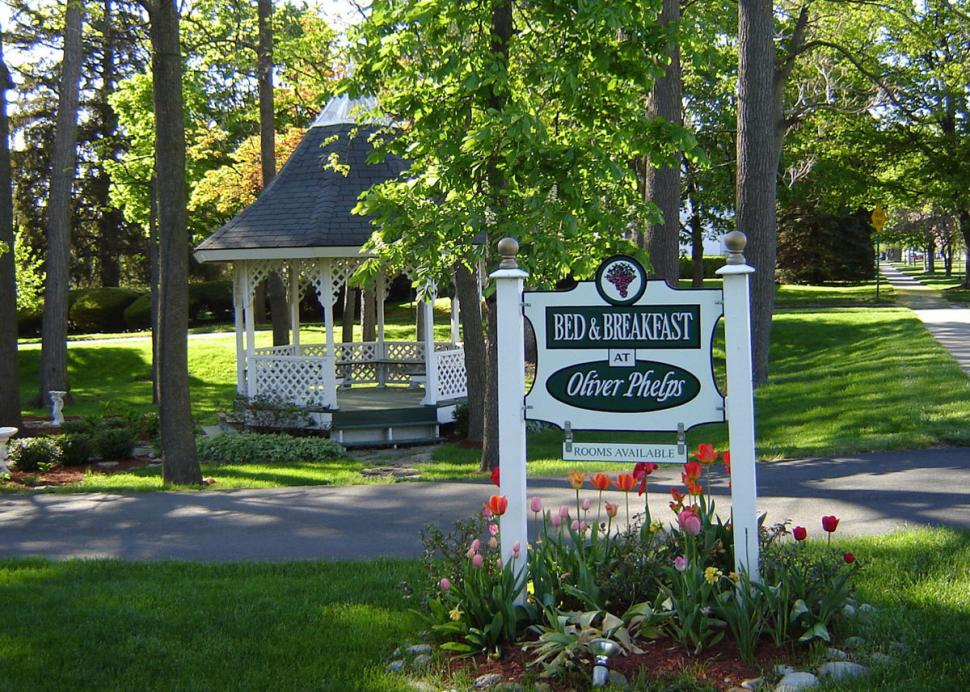 Relax and enjoy a beautiful Finger Lakes afternoon in the gazebo