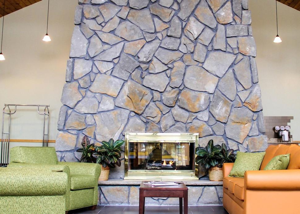Lobby Lounge and Fireplace
