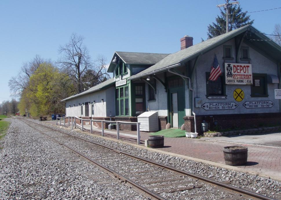 View of Depot 25 from the old train tracks.