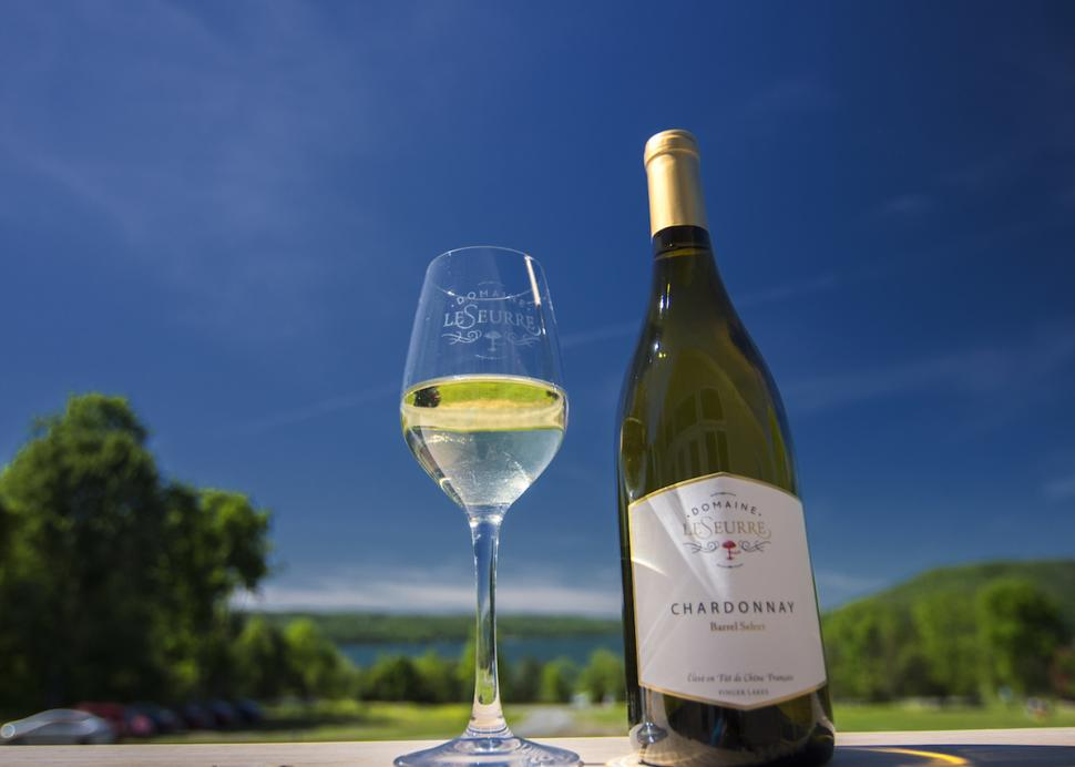 Domaine Leseurre wine - photo by Stu Gallagher