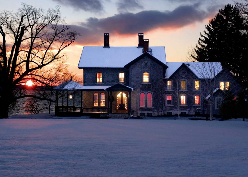 EB Morgan House in the Winter