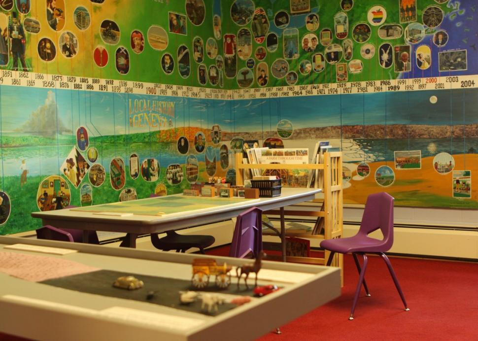 A great area for kids to explore at the Geneva Historical Society Museum