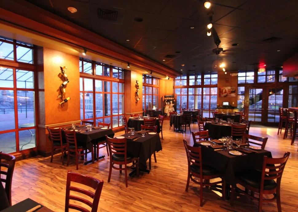 LaLuna Restaurant in Downtown Rochester overlooking the famous High Falls