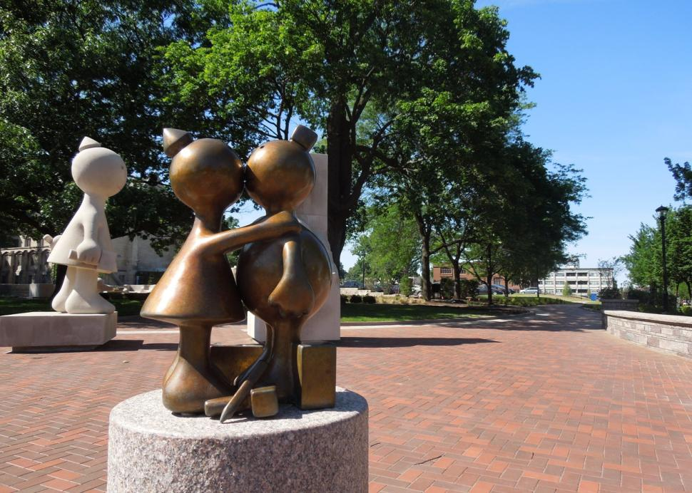 """MAG-the-kiss :: Detail of world renown sculptor, Tom Otterness' """"Creation Myth"""" as seen at the Memor"""