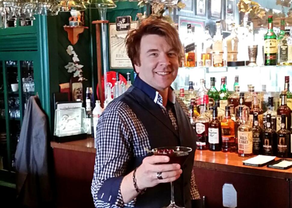Bar at Charlie's Cafe features Finger Lakes wine & beer