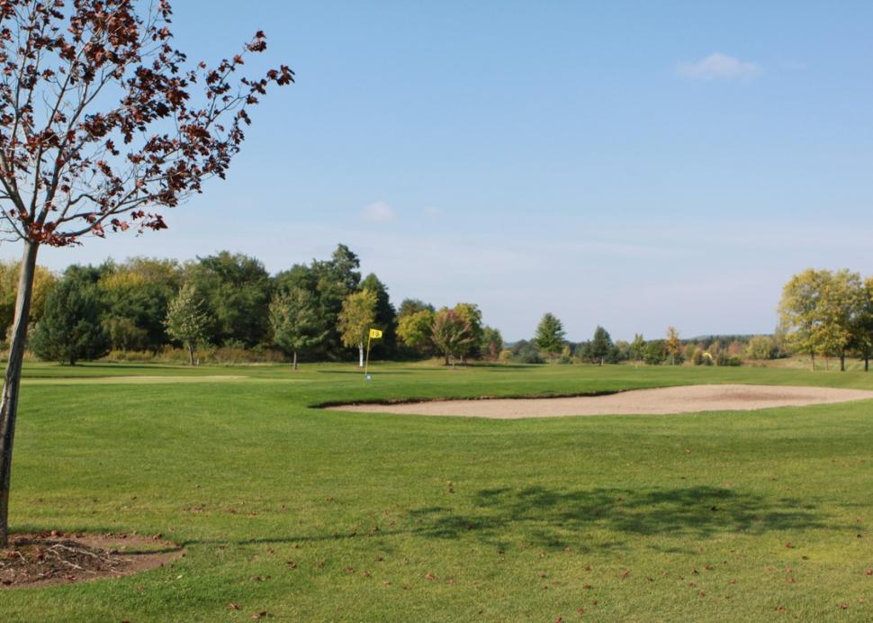 A sand trap on one of the holes at Parkview