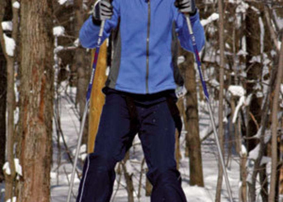 Cross country skiing at Bristol Mountain Nordic Center