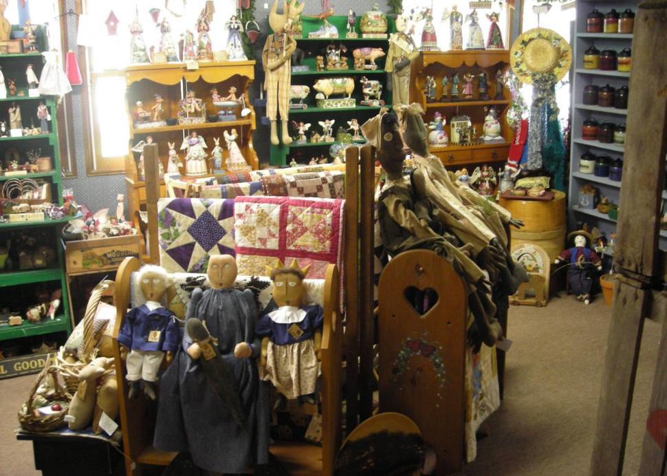 Back room at the Cottage Gift Shop