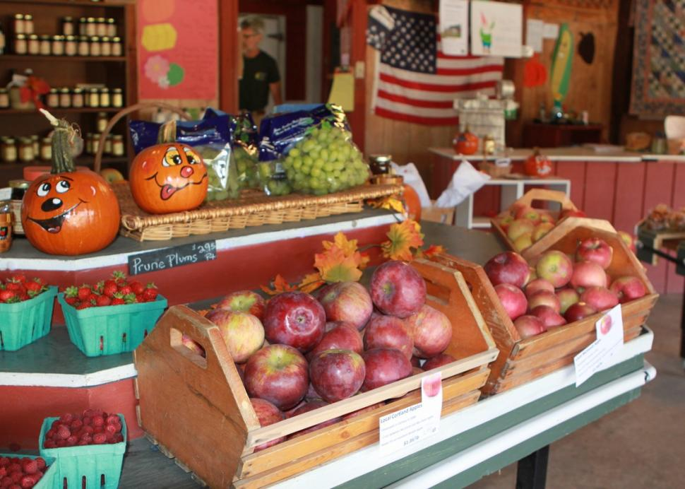 Fresh apples at White's Farm Market