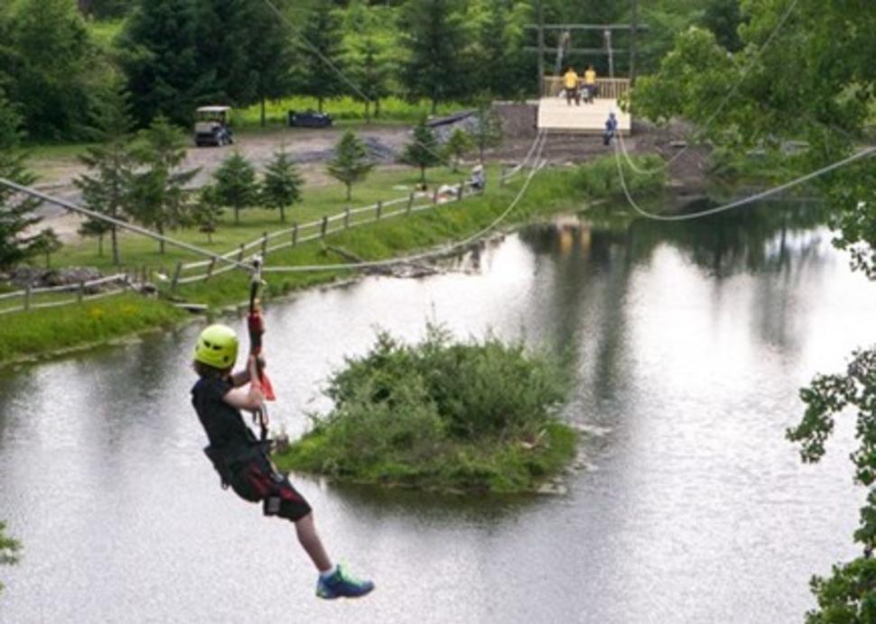 Take a ride down the zipline!