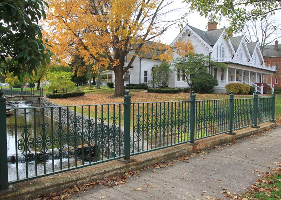 foster-cottage-museum-clifton-springs-exterior-spring-water-bridge-fence-fall