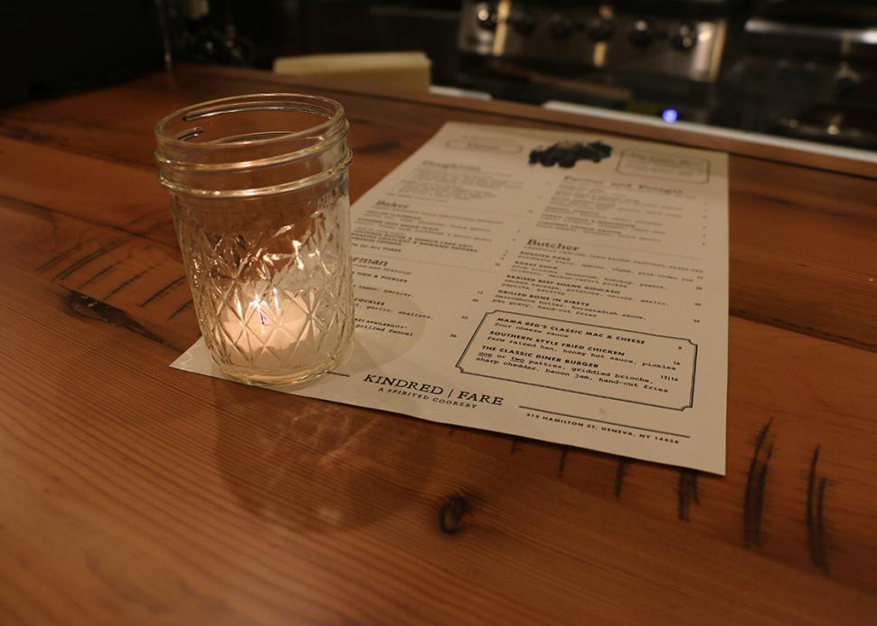 kindred-fare-geneva-menu-candle