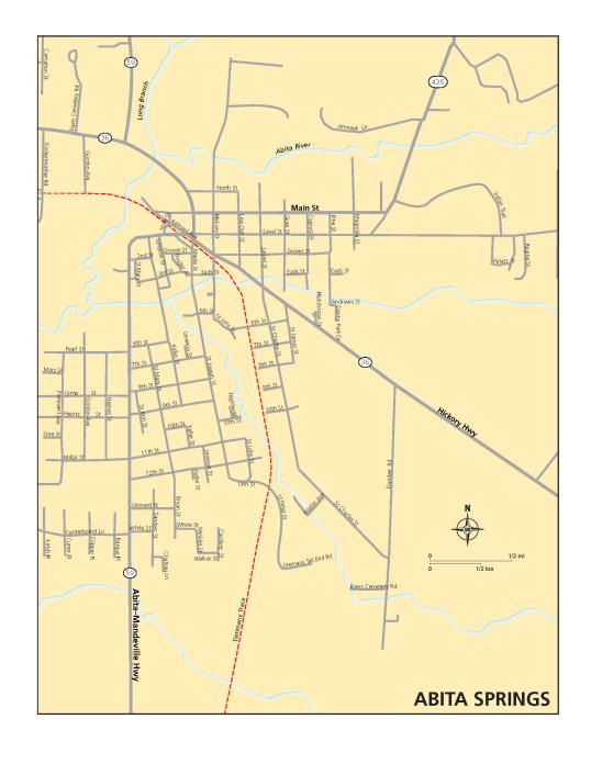 Abita Springs Map
