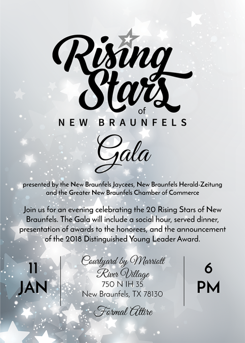 Rising Stars Gala invite 2018