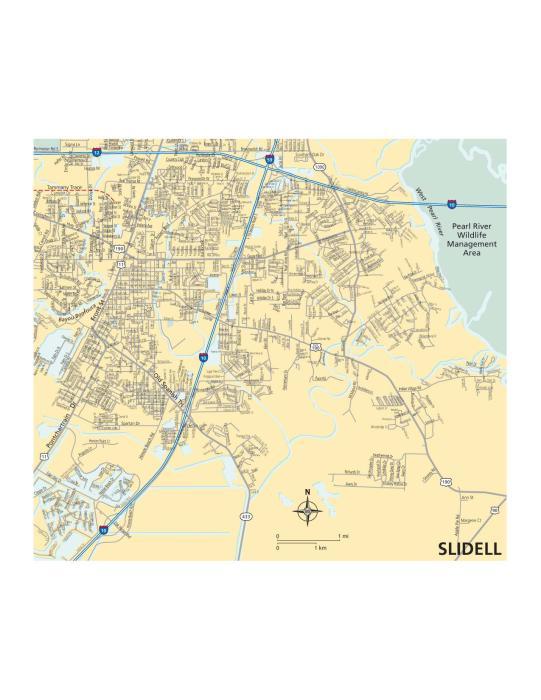 Slidell Map