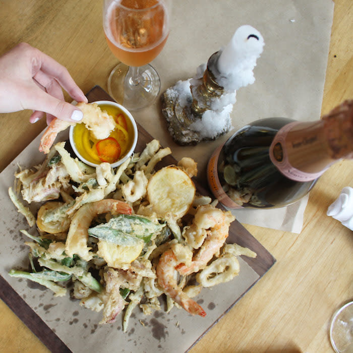 Coppa Osteria's Champagne and Oysters