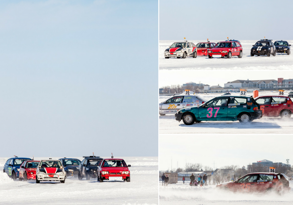 Gimli Ice Festival Ice Car Racing