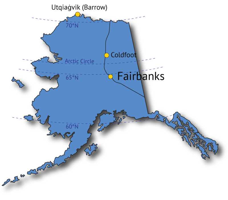 Midnight Sun Tracker Map
