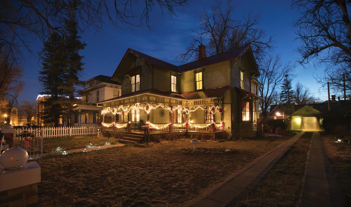 A home from Las Vegas's Holiday Historic Homes Tour