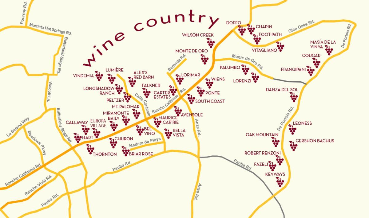 Temecula Wineries Map September Is Wine Month In Temecula California | Visit Temecula Valley Temecula Wineries Map