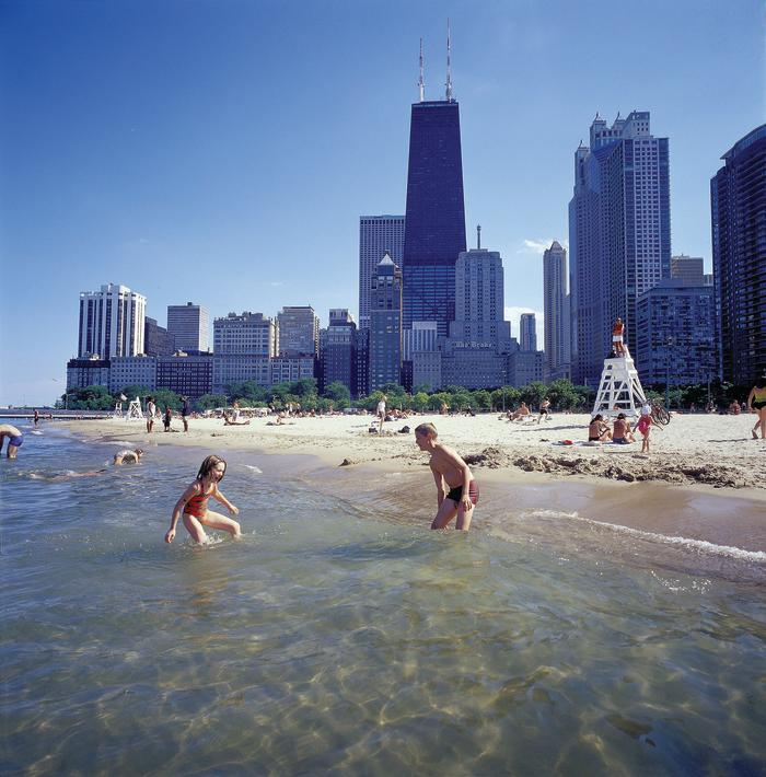 Oak Street Beach with Hancock