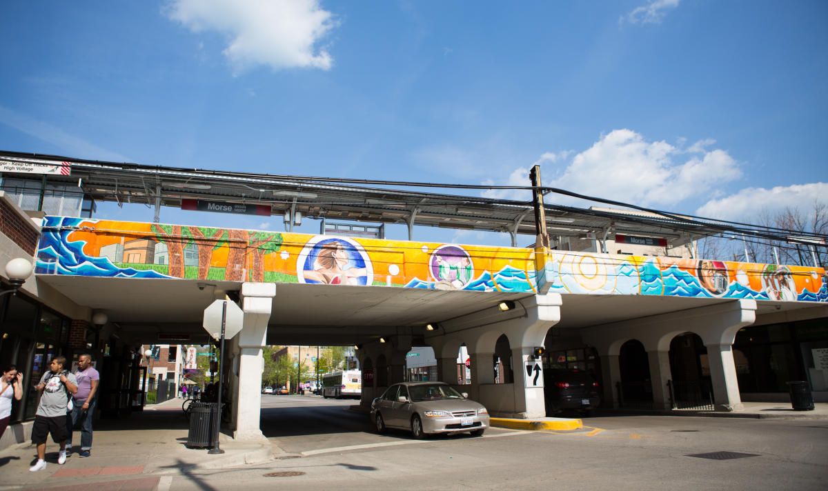 """Artistic Movement"" public art mural Rogers Park, Chicago"