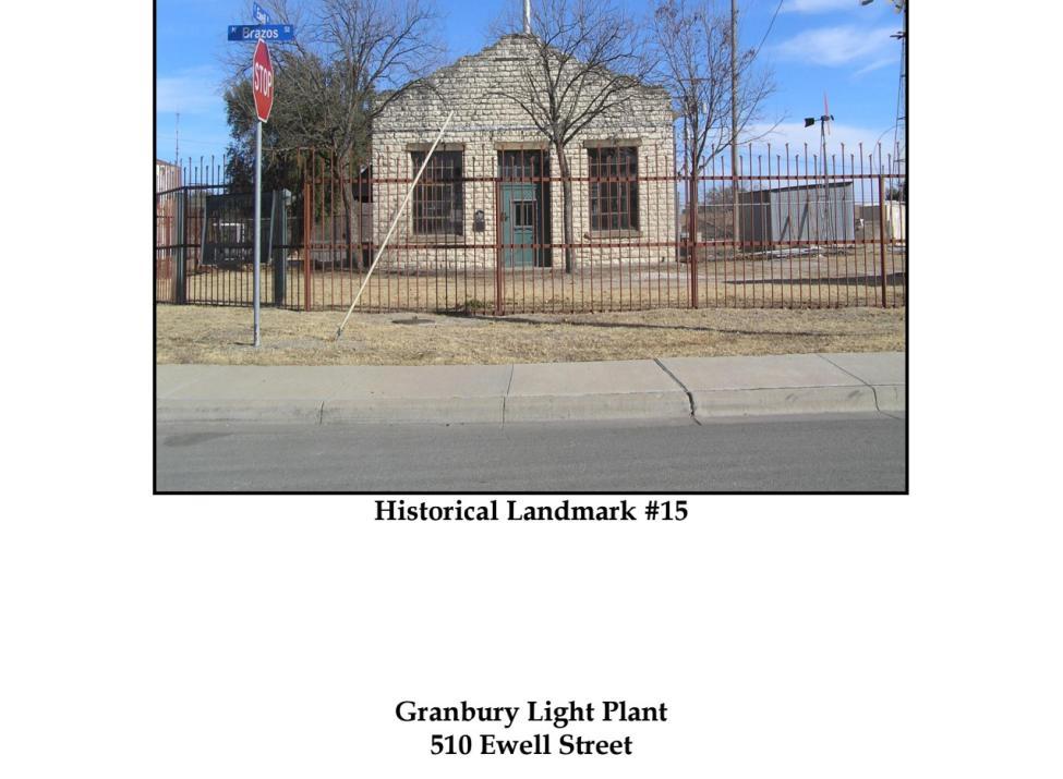 Granbury Light Plant
