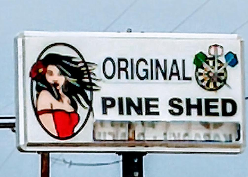 Pine Shed Sign