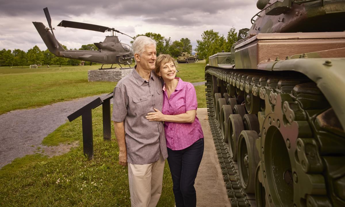 Couple at the Army Heritage Trail