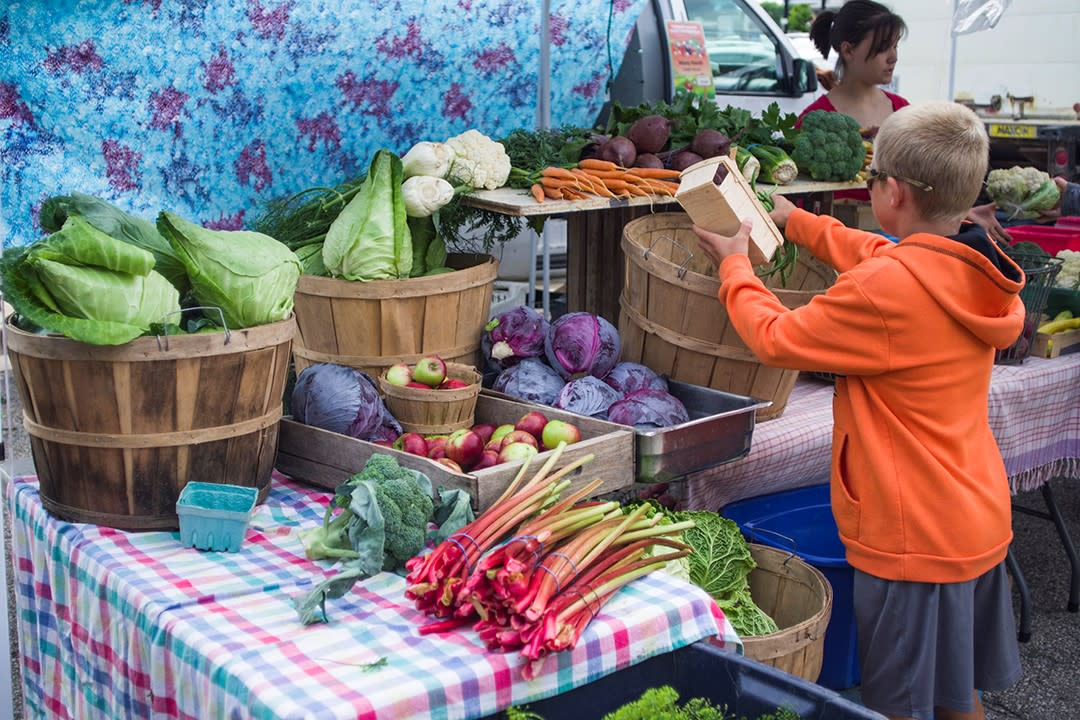 Fresh Produce at the Rochester MN Downtown Farmers Market