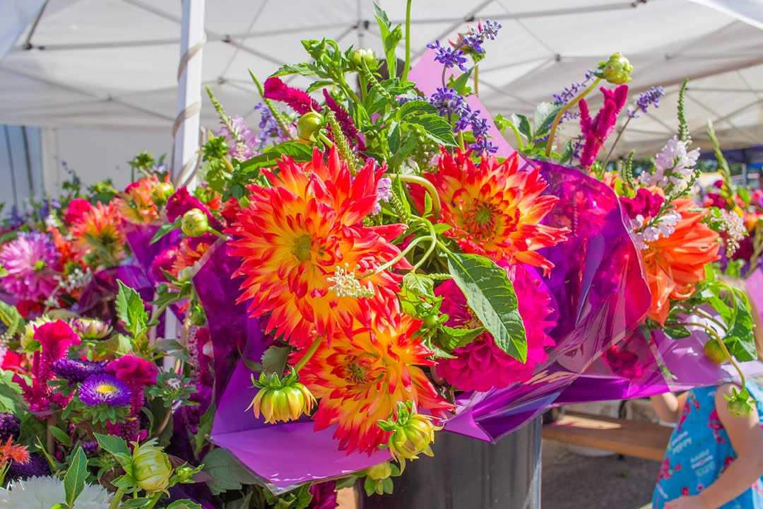 Fresh Flowers at the Rochester MN Downtown Farmers Market
