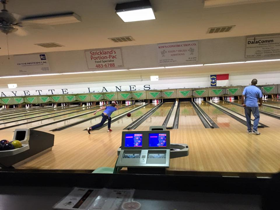 Bowlers at Lafayette Lanes