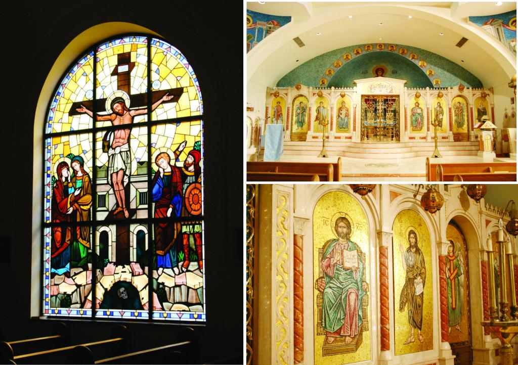 Inside St. George Greek Orthodox Church courtesy of St. George