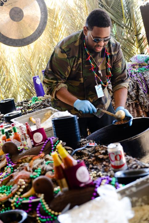 Mardi Gras Gumbo Cook Off in Lake Charles, LA.