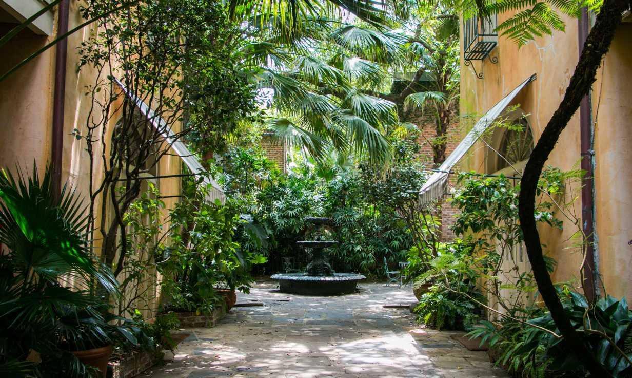Soniat House Courtyard & Fountain #2
