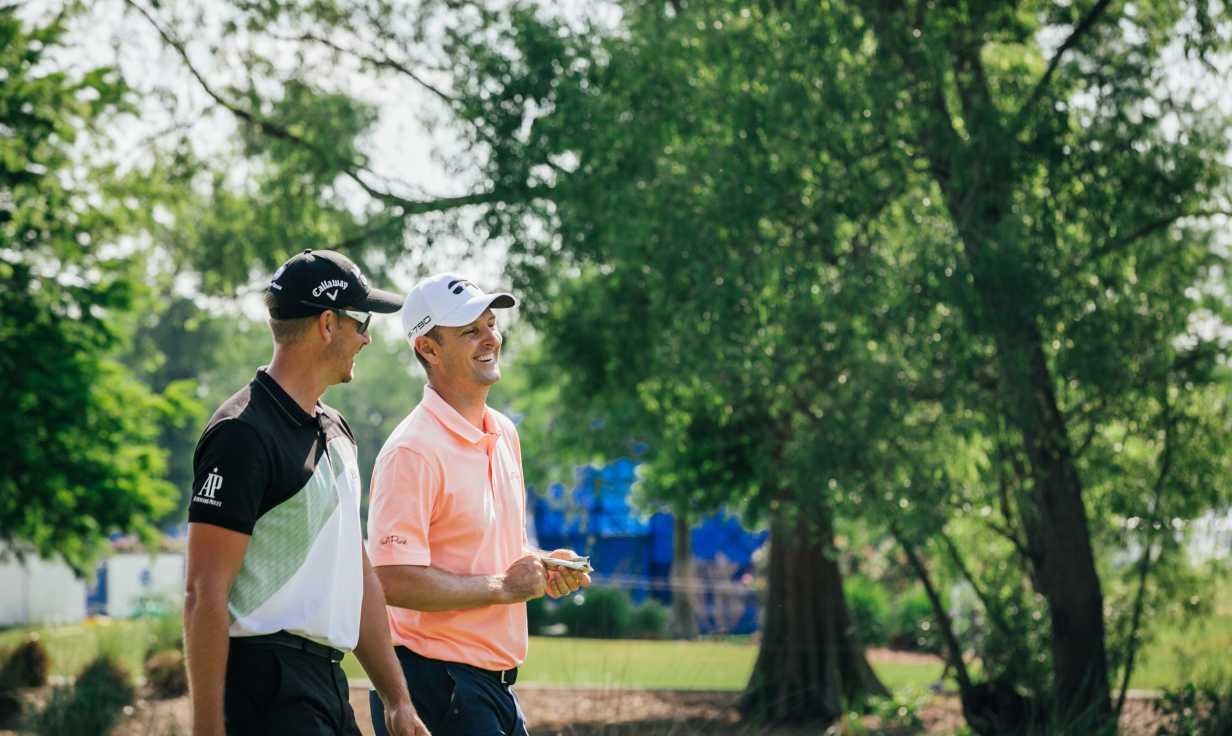 Golfers at TPC