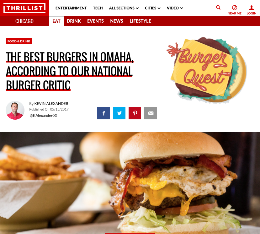 Best Burgers in Omaha - Thrillist.com