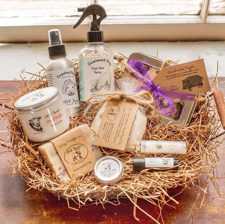 Hand cream, soap, lip balm, etc. from1818 Farmsin Mooresville