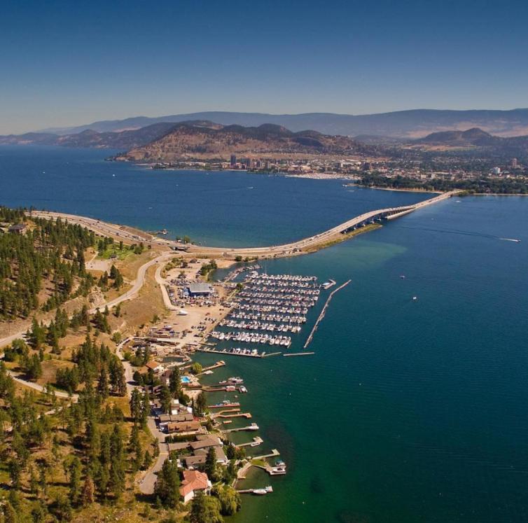 Aerial of Kelowna from the Westside