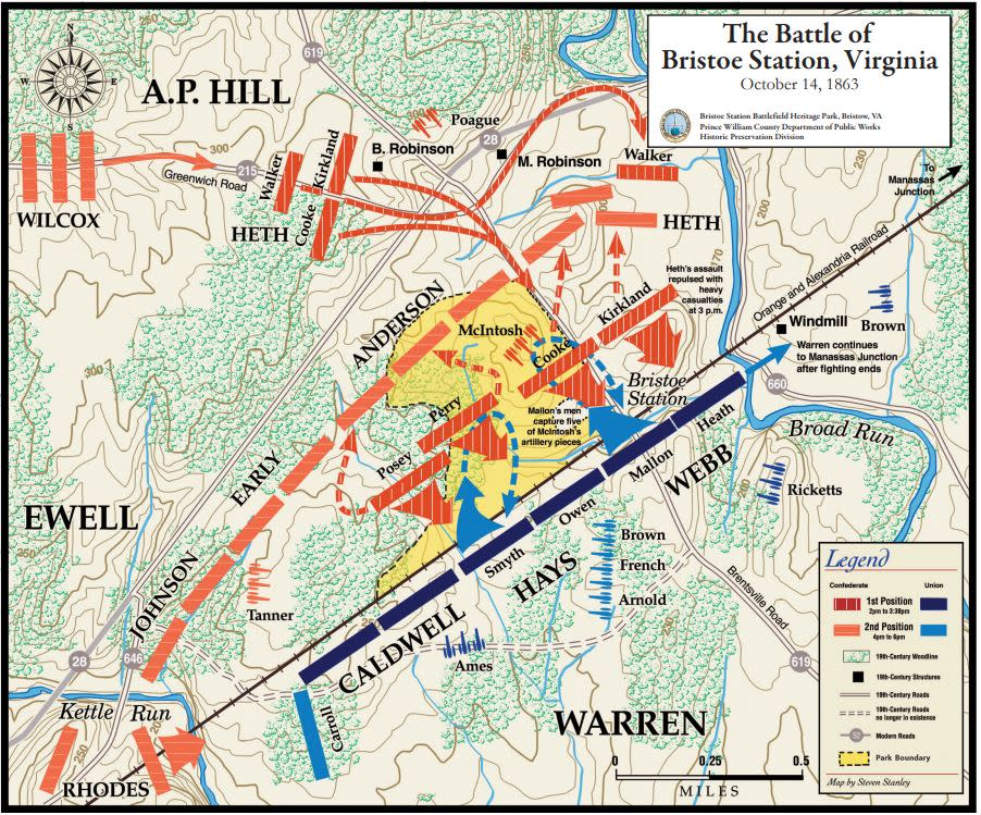 Bristoe Station Battle Map