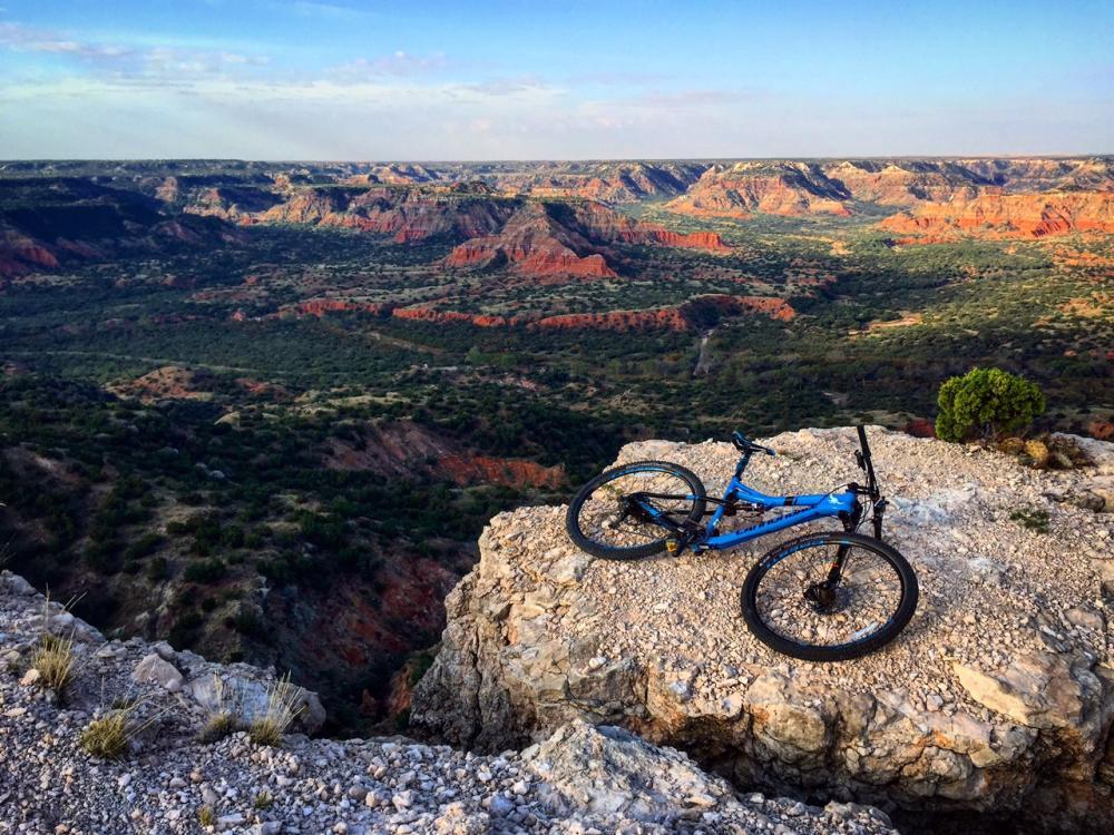 Mountain biking in Palo Duro Canyon