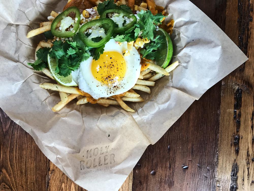 Basket of Trash Fries from Holy Roller restaurant in Austin Texas