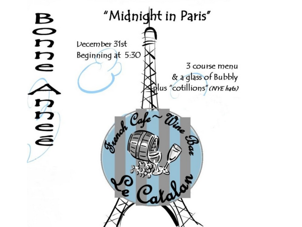Midnight in Paris Le Catalan New Year's Eve