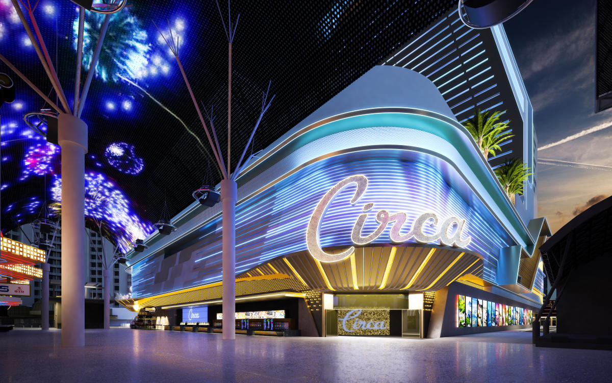 Located in Downtown Las Vegas, the new Circa building sits right next to the Freemont Street Experience.