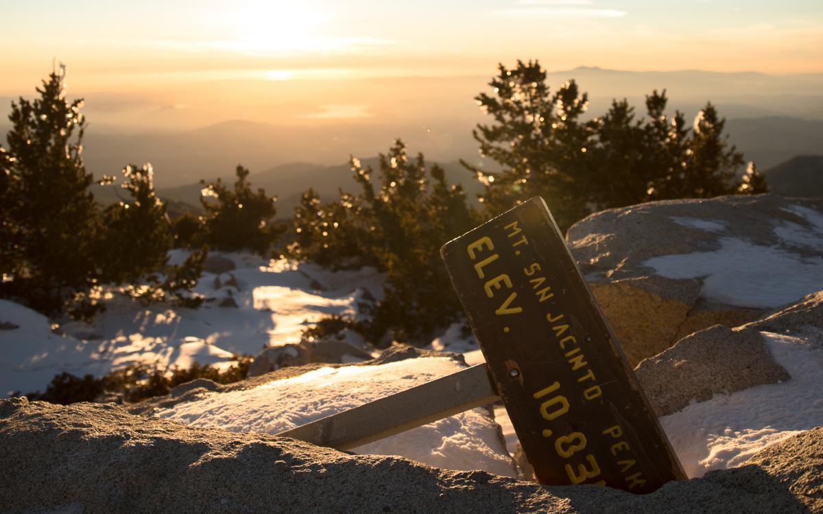Sunset from the summit of San Jacinto Peak