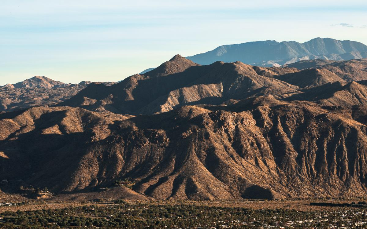 View of the mountains from the Palm Springs Museum Trail
