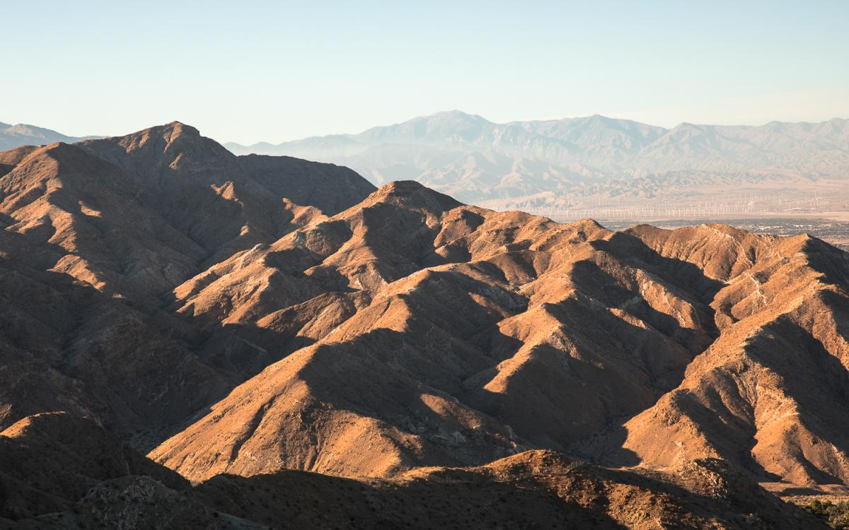 View of mountains from the Bump and Grind Trail in Greater Palm Springs