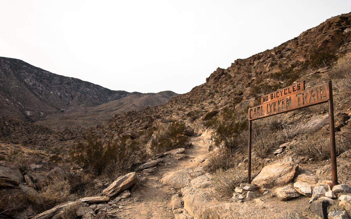 The start of the South Lykken Trail in Palm Springs