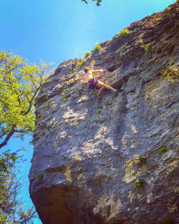Climbing at Reimers Ranch