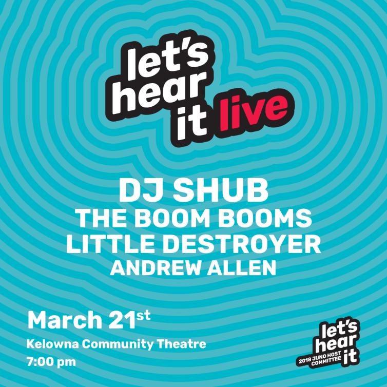 Let's hear it live poster